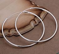 Жен. Серьги-слезки Массивные украшения Простой стиль бижутерия Стерлинговое серебро Круглый Бижутерия Назначение Свадьба Для вечеринок