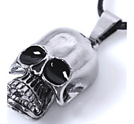 Fashion Can Shrink Mouth Skull Pendant Necklace