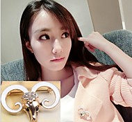 Korean Fashion Female Ram Temperament Diamond Brooch
