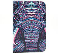 magic elefante spider® pu carteira de couro da tampa do caso estar com protetor de tela para Samsung Galaxy Tab t110 / T116