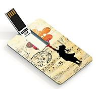 16gb il disegno ragazza carta flash drive usb