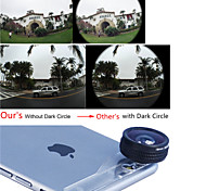 Evileye No Dark Circle Pearl Lens 180° Fisheye Lens for iPhone 6 Plus /6/5 with Crystal Mounting Plate (Assorted Colors)