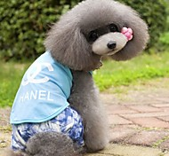 Dog T-Shirt - S / M / L / XL / XXL - Summer - Red / Black / Blue / Pink - Cosplay - Cotton