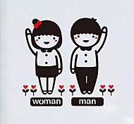 Lovely Couple Toilet Sticker
