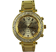 Women's Watch Fashion Quartz Wristwatch Alloy Band Material The Surface of The Diamond