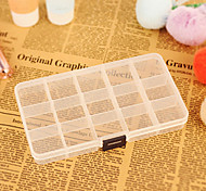 15 Cases Removable Transparent Plastic Storage Box