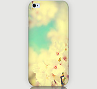 White Flowers Pattern Phone Back Case Cover for iPhone5C