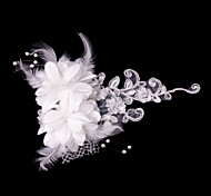 Fashion Women Satin Flowers With Imitation Pearl Wedding/Party Headpiece
