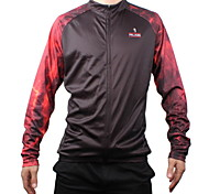 Men's Paladinsport Winter Fashion Lava Wall Style Quick Dry Anti-sweat Long Sleeve Cycling Jersey Top  Red + Black