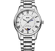 BOS Men's Quartz Waterproof Stainless Steel Waist Watches 8002G