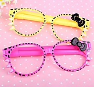 Cute Eyeglass Blue Ink Ballpoint Pen(Random Color)