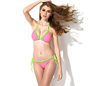 Colloyes 2015 New Sexy Green Lace Triangle Top With Classic Cut Bottom Bikini Swimwear(Size:S/M/L,Assorted Colors)