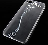 Music Note Pattern Transparent Back Case for iPhone5/5s