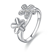 925 Silver Lovely Flower Shaped Fashion Ring