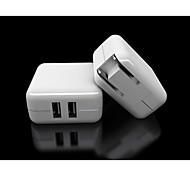 Dual USB Power Adapter Ladegerät YC-CDA2 für iphone / ipad / samsung / HTC / LG-Weiß (US-Stecker)