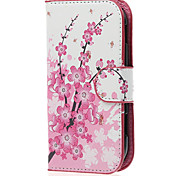 Plum Blossom PU Leather Case Cover with Stand and Card Slot for Samsung Galaxy Xcover 2 S7710