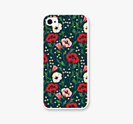 Small Red Flower Pattern PC Back Case for iPhone5/5s