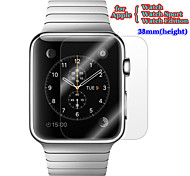 3in1 Premium HD Glossy Clear LCD Screen Protector Flim with Cleaning Cloth Set for Apple Watch 38mm Watch Sport