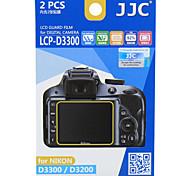 JJC LCP-D3300 D3200 for Nikon Camera Screen Foil HD Membrane Scratch Resistant