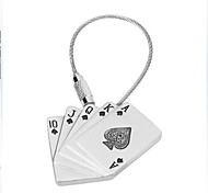 Exquisite Poker Stainless Steel Keychain / Key Ring