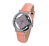 women's watch fashionable transparent case flower watch