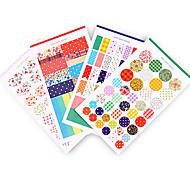 Shivering Dot Stripe DIY Stickers (4PCS)
