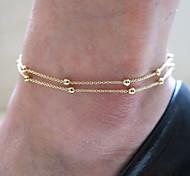 cuentas tobillera joyas playa pie anillo cuerpo pulsera
