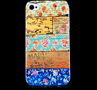 motif de grain de bois fond transparent pour iphone4 / 4s