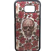 silicone caso de volta macio para Samsung Galaxy S6 durável crânio da flor