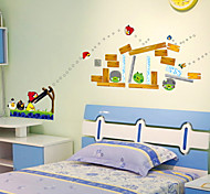 Fashion Angry Birds PVC Wall Stickers Wall Art Decals