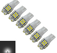 JIAWEN® 6pcs T10 1.2W 20X3528SMD 85LM 6000-6500K Cool White Inverted Side Wedge Light LED Car Lights (DC 12V)