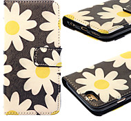 Flower Painting PU Leather Falling Proof Case with Stand and Slot Card for iPhone 6