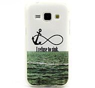 Sea Anchor  Pattern TPU Soft Case for Samsung Galaxy J1
