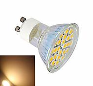 5W GU10 Focos LED 24 SMD 5050 600 lm Blanco Cálido / Blanco Fresco AC 100-240 V 1 pieza
