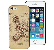 Vintage Camera Design PC Hard Case for iPhone I4
