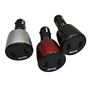 multifonctionnel chargeur de voiture affichage tension / amper et la température / deux chargeur de voiture USB port 5a