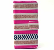 Stripe Pattern PU Material With Support Slot With Support Slot Holster for iPhone 6