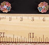 Girl's Color Diamond Earrings