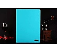 High Quality PU Leather  Auto Sleep/Wake Up Solid Color for  iPad 2 (Assorted Colors)