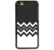 The Black and White Design Aluminum Hard Case for iPhone 5C
