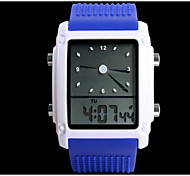 Men's Casual  Waterproof Silicon Rubber Case Electron Wrist Watch  (Assorted Colors)