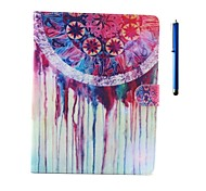 Ball Pattern PU Leather Case with Stand and Pen for iPad 2/3/4