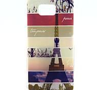 For Samsung Galaxy Case Pattern Case Back Cover Case Eiffel Tower TPU Samsung Alpha