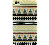 Light Yellow Folk Style Pattern Ultrathin TPU Soft Case for iPhone 4/4S