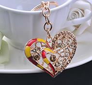 Peach Heart Drill Key Chain