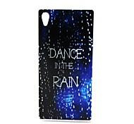 design de mode Coco Fun® marche dans le motif de pluie IMD étui souple TPU couverture pour z4 sony