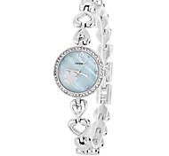 SINOBI Women's Flower Alloy Band Quartz Analog Bracelet Wrist Watch (Assorted Colors)