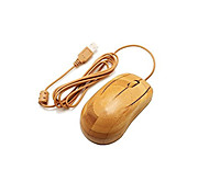 Sepia Color Green&eco-friendly A4TECH Wired Bamboo Office Essential Mouse