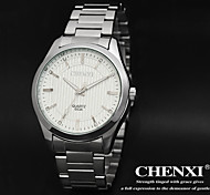 CHENXI® Men's Simple Design Dress Watch Japanese Quartz Calendar Water Resistant Silver Steel Strap