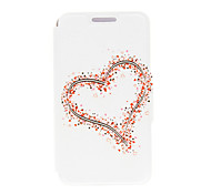 Kinston® Big and Small Hearts Pattern PU Leather Full Body Cover with Stand for Lenovo P780